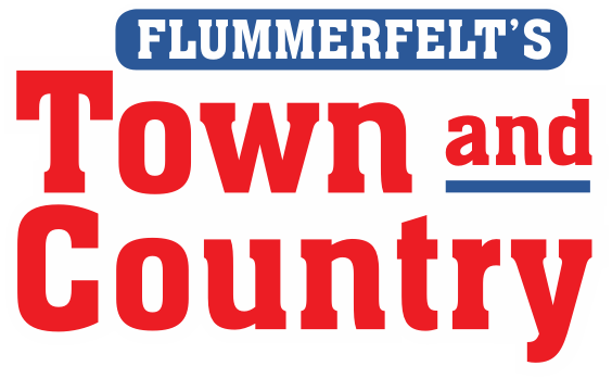 A footer logo of Flummerfelt's Town and Country