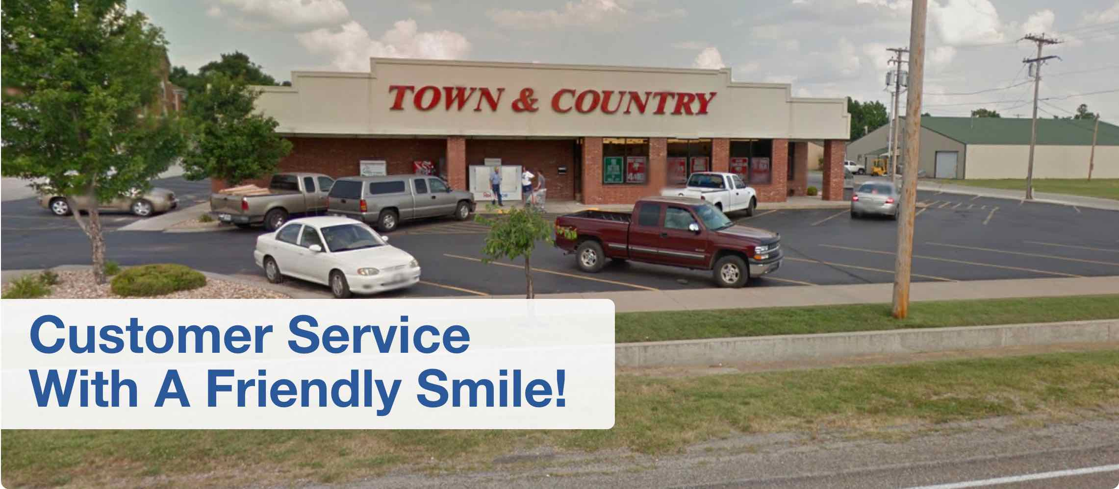 Customer service with a friendly smile!